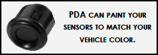 PDA can paint your sensors to match your vehicle color