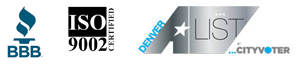 BBB, ISO 9002, Denver A-List