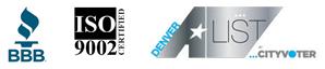 BBB, ISO 9002, Denver A-List