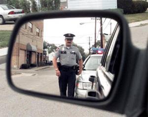 Rear View mirror police